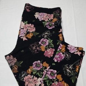 Torrid Cropped Floral Print Leggings